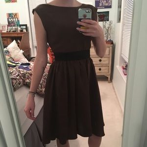 Dresses & Skirts - Brown Silk Party Dress